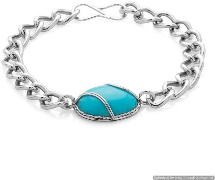 Rich & Famous Alloy Rhodium Bracelet