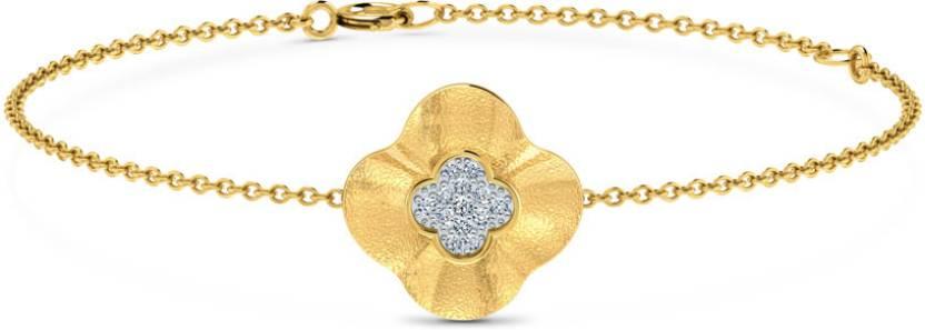 Caratlane Heartthrob Yellow Gold 18kt Diamond Bracelet Price in