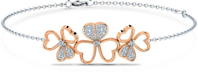 Caratlane Bracelet White Gold 18kt Diamond Bracelet Price in India