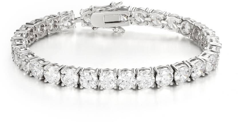 Swarovski Elements Metal Swarovski Crystal Platinum Bracelet Price in India  - Buy Swarovski Elements Metal Swarovski Crystal Platinum Bracelet Online  at ... 36eafda47d