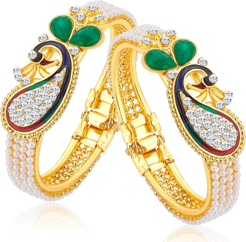 47915874c1b Sukkhi Alloy Gold-plated Kada Price in India - Buy Sukkhi Alloy Gold ...