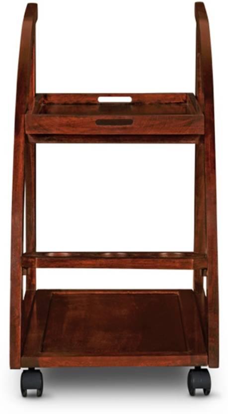 HomeTown Solid Wood Bar Trolley