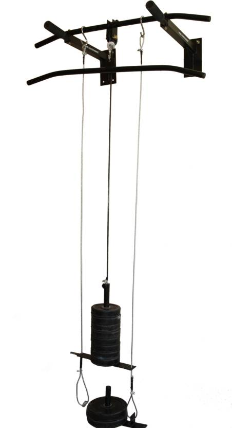 Home Gym Dynamics Top Pulley With Anti Swing Mecahnism Pull Up Bar