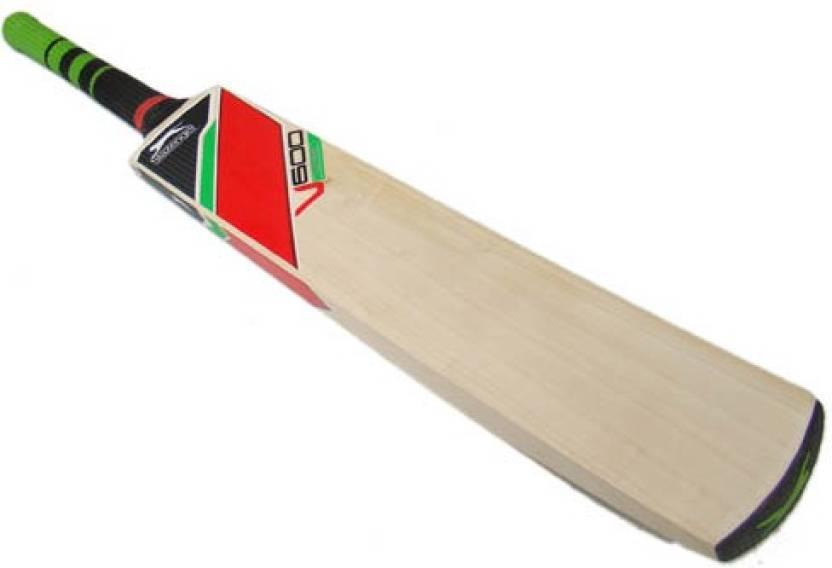 0851935e472 Slazenger V600 Elite English Willow Cricket Bat (Short Handle, 700-1200 g)
