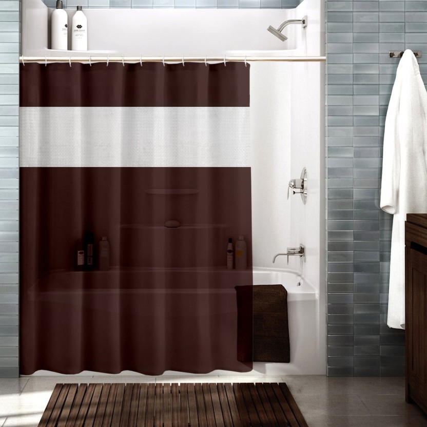 Cortina 180 Cm (6 Ft) Polyester Shower Curtain Single Curtain