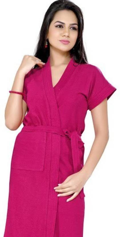 f9a402590 Superior Pink Free Size Bath Robe - Buy Superior Pink Free Size Bath ...