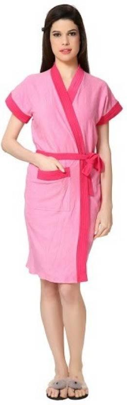 Superior Pink Free Size Bath Robe  (Bath Robe, For: Women, Pink)
