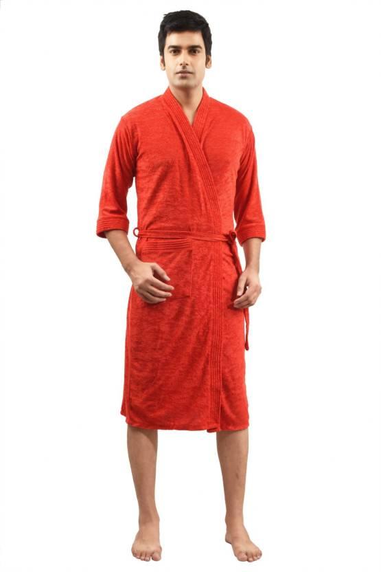 9a33bf551c FeelBlue Red Free Size Bath Robe - Buy FeelBlue Red Free Size Bath ...