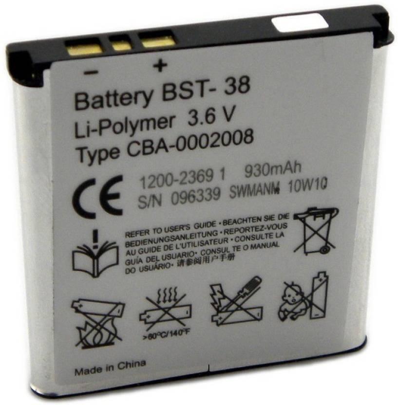 Sony ericsson battery bst 38 sony ericsson flipkart sony ericsson battery bst 38 sciox Choice Image