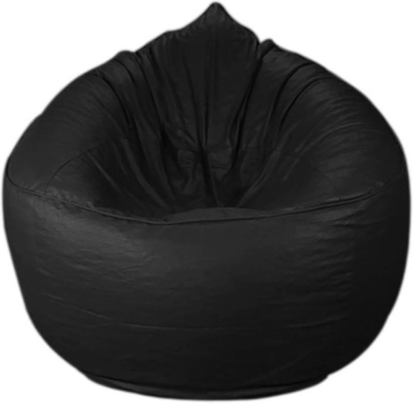 CaddyFull XXXL Chair Bean Bag Cover  Without Beans  Black