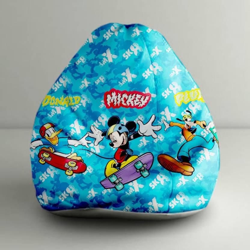 Strange Orka Xxl Mickey And Friends Digital Printed Bean Bag With Machost Co Dining Chair Design Ideas Machostcouk