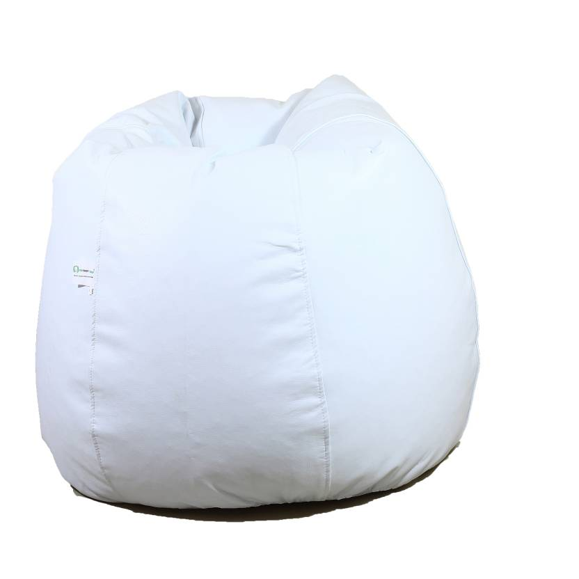 ORKA XXL Tear Drop Bean Bag Cover  Without Beans  White