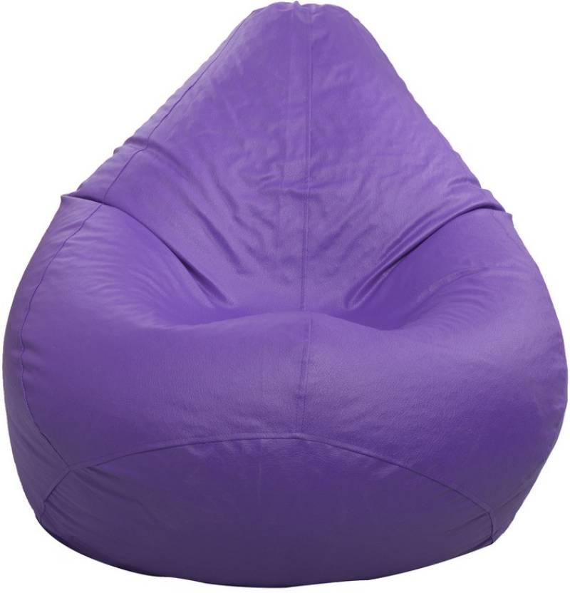 Styleco XXXL Tear Drop Bean Bag Cover  Without Beans  Purple