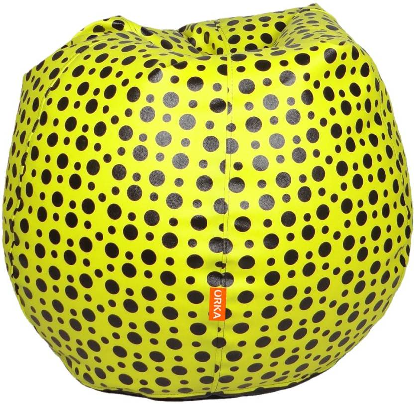 ORKA XXL Teardrop Bean Bag Cover  Without Filling  Yellow