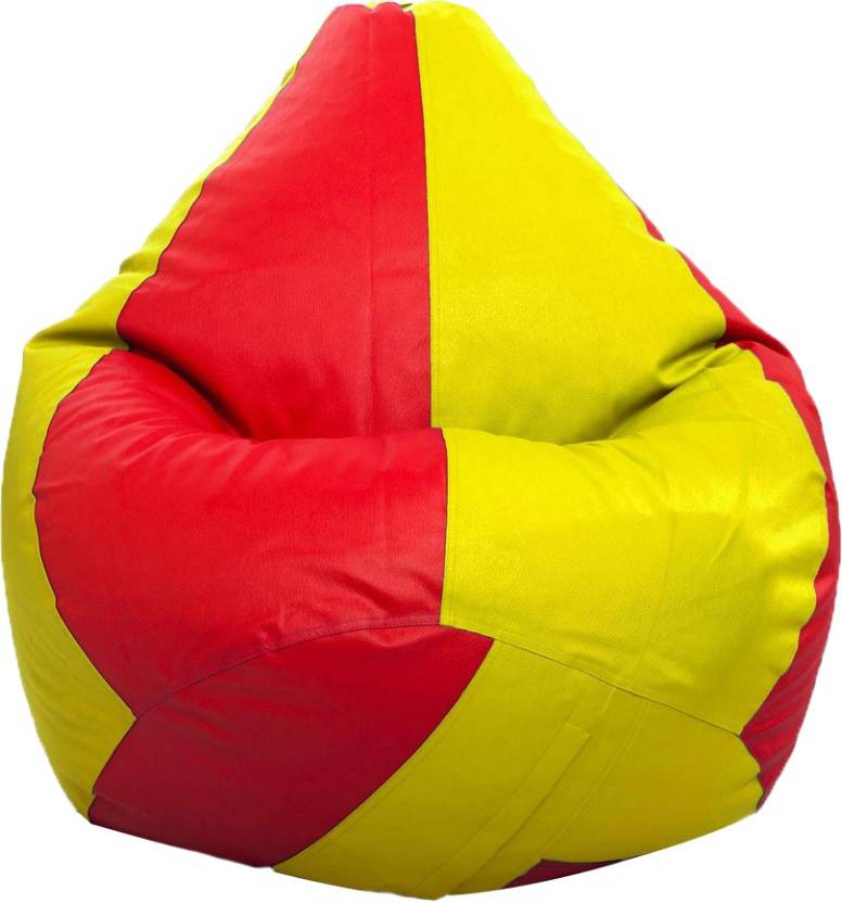 Styleco XXL Tear Drop Bean Bag Cover  Without Beans  Yellow