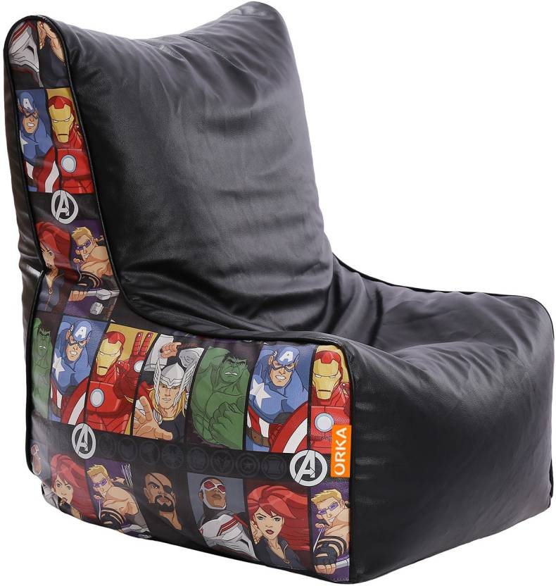 Orka Xxl Avengers Character Digital Printed Bean Bag Chair With Bean