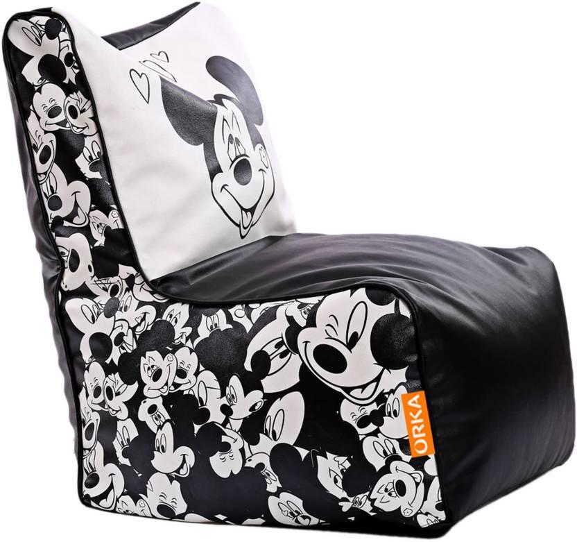 Orka Xxl Mickey Mouse Digital Printed Bean Bag Chair With Bean