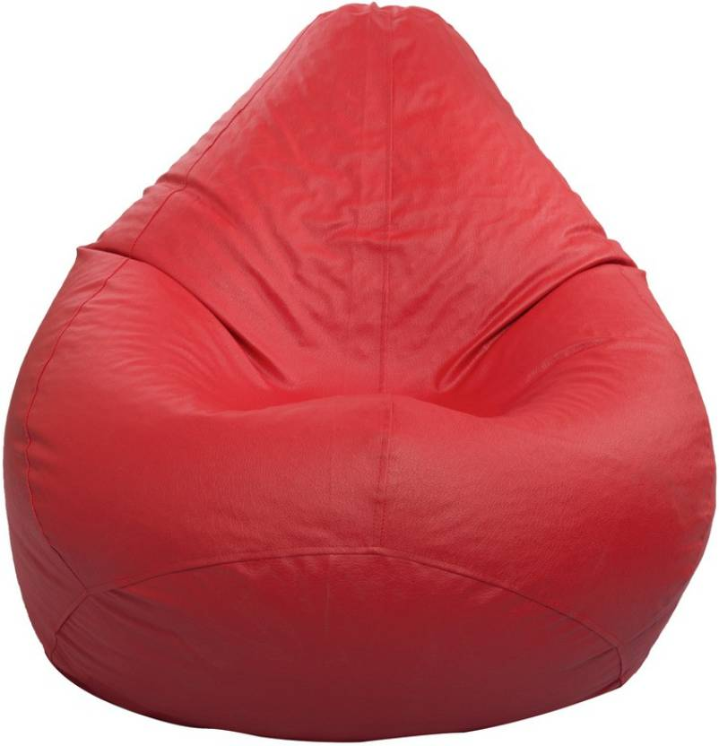 Styleco XL Tear Drop Bean Bag Cover  Without Beans  Red