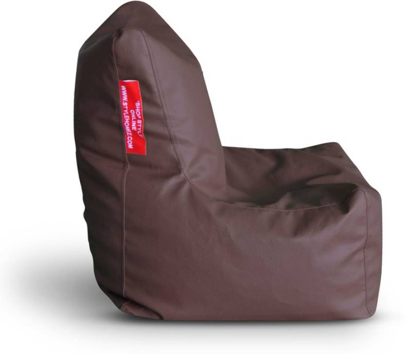 Style Homez Large Chair L Size Brown With Beans Bean Bag Filling