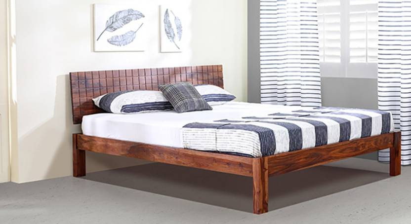 8cb8dc72cb Urban Ladder Valencia Solid Wood King Bed Price in India - Buy Urban ...
