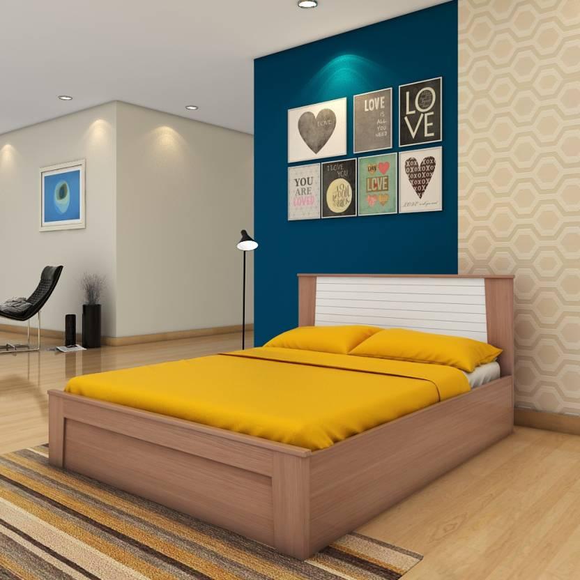 Hometown Ambra Engineered Wood Queen Box Bed Price In India Buy