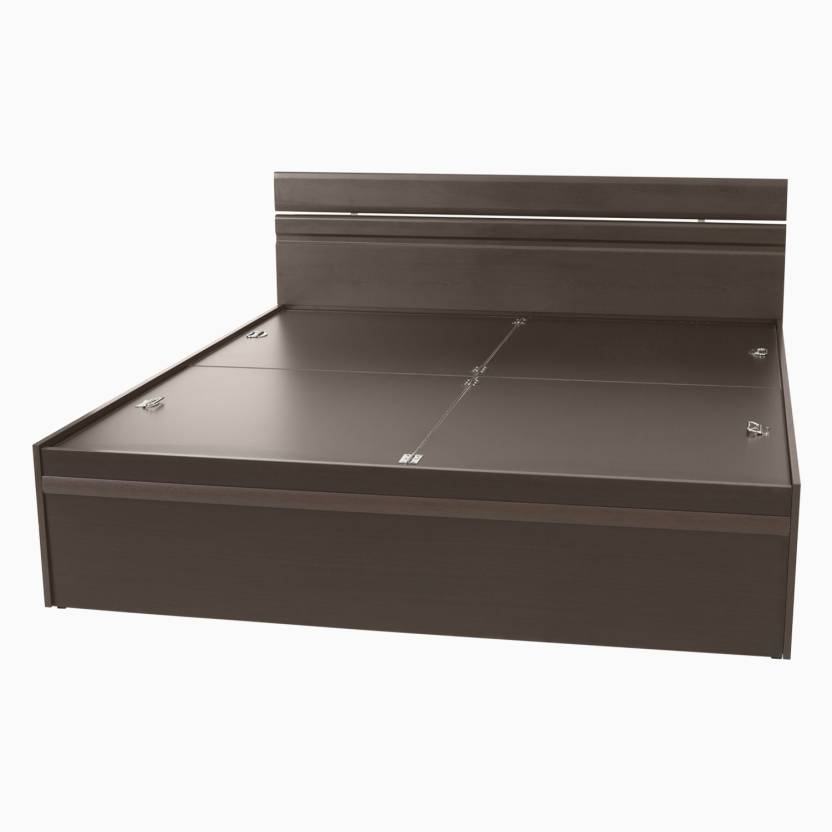 Godrej Interio Engineered Wood King Bed With Storage Finish Color Wenge Available At Flipkart