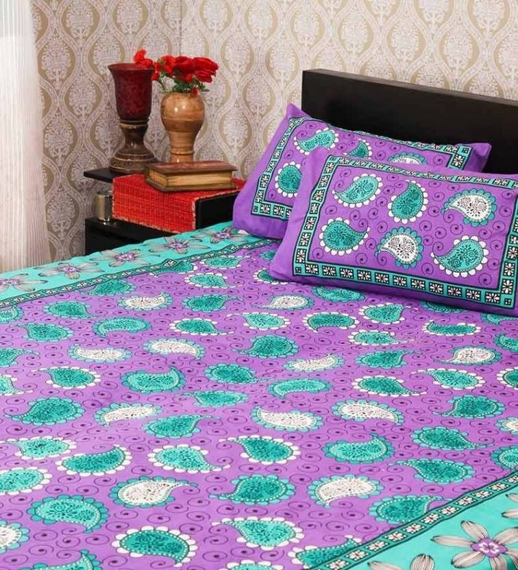 Christy's Collection Cotton Checkered Double Bedsheet
