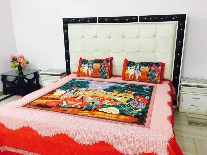 Reliable Trends Cotton Printed King sized Double Bedsheet