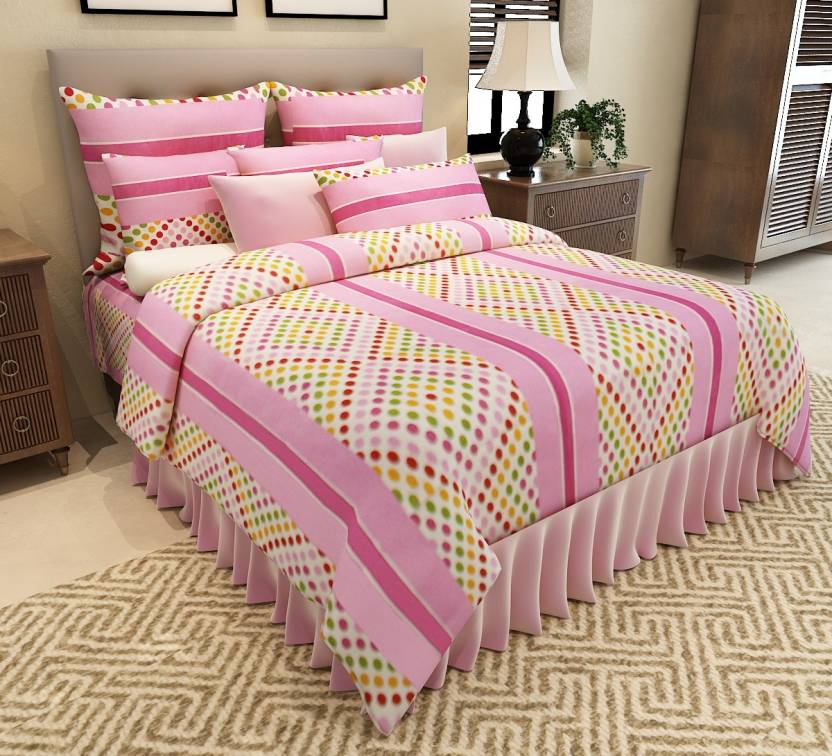 Extra 30% Off on Home Furnishing Range By Flipkart | Home Candy Polycotton Printed Double Bedsheet  (1 Bedsheet, 2 Pillow Covers, Multicolor) @ Rs.500