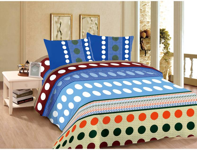 Good Karma Polyester Geometric Double Bedsheet