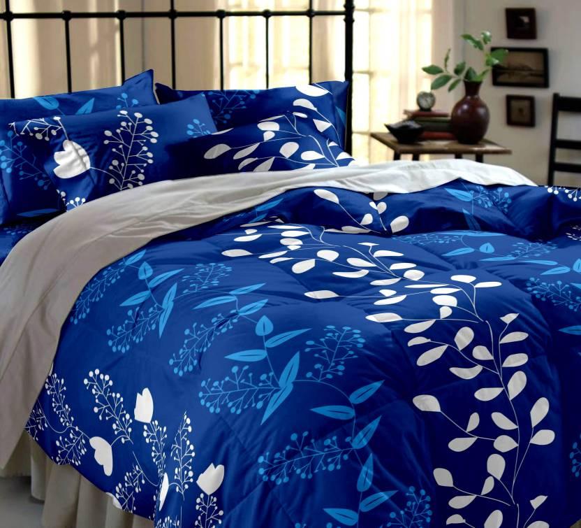 Home Ecstasy Cotton Floral Double Bedsheet Buy Home Ecstasy