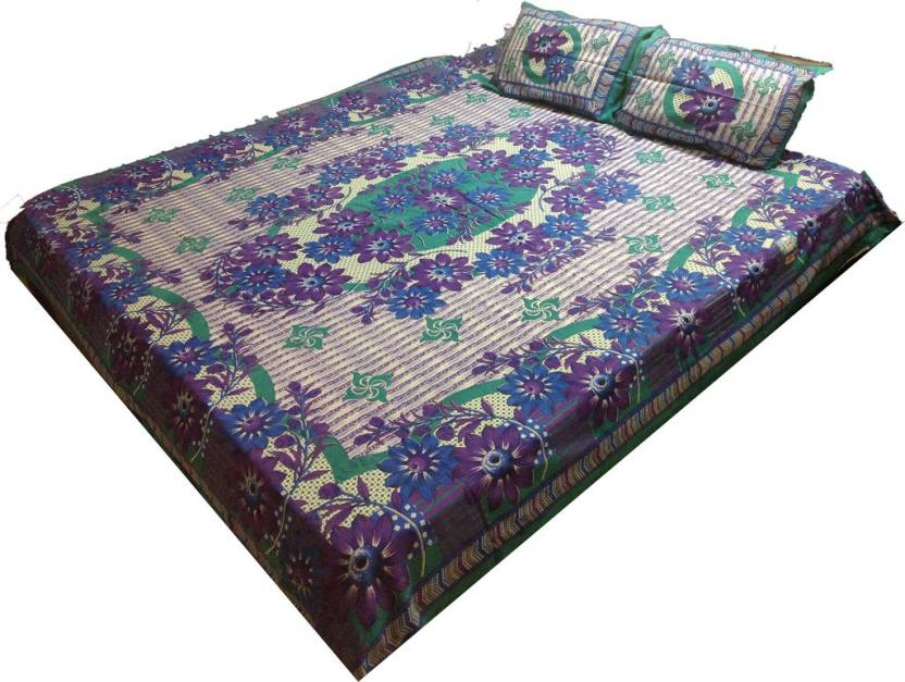 Prakki Cotton Abstract Double Bedsheet