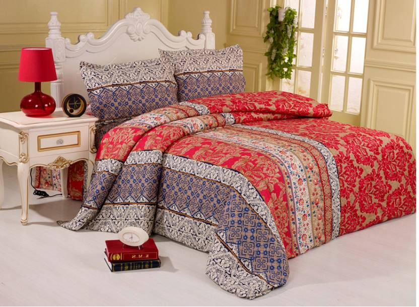 Story@Home Cotton Printed King sized Double Bedsheet