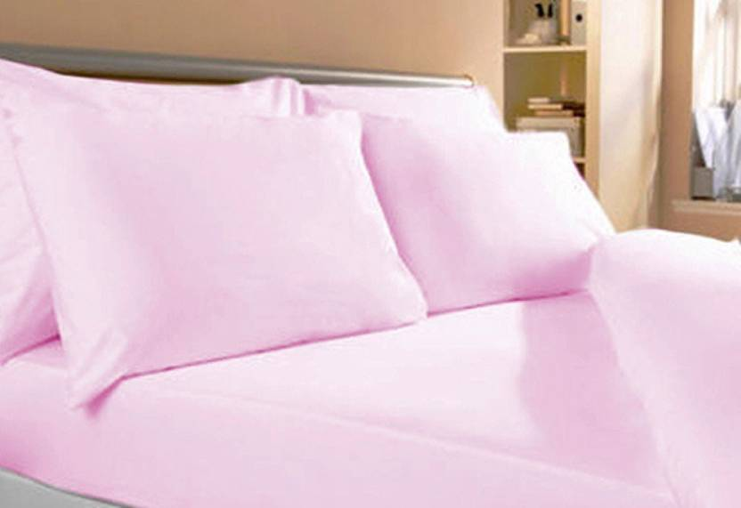 TOP ONE Cotton Plain King sized Double Bedsheet