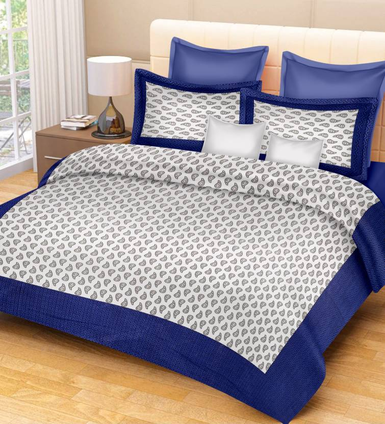 Metro Living Cotton Paisley King sized Double Bedsheet