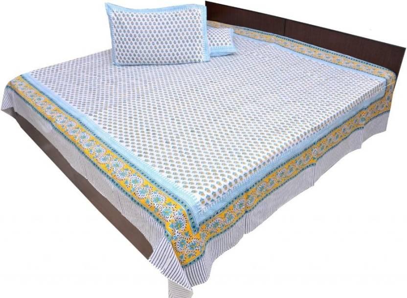 Jaipurraga Cotton Paisley King sized Double Bedsheet