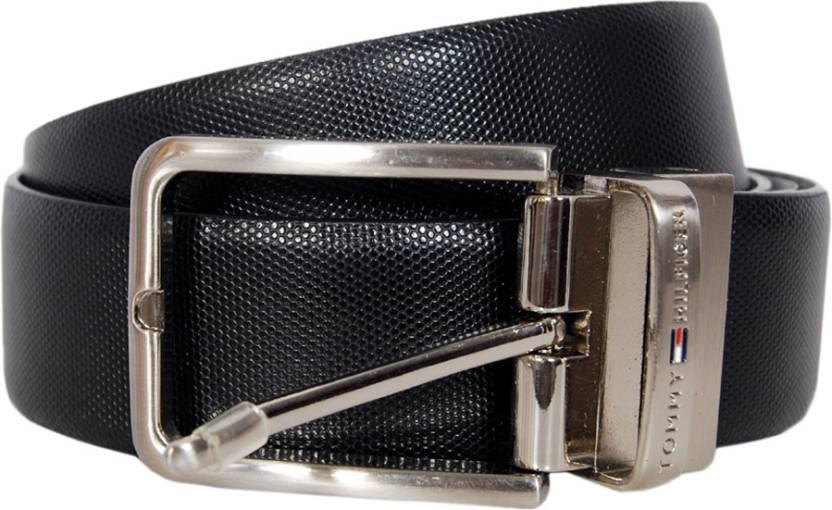 bec00b73daa0 Tommy Hilfiger Men Formal Black Genuine Leather Reversible Belt ...