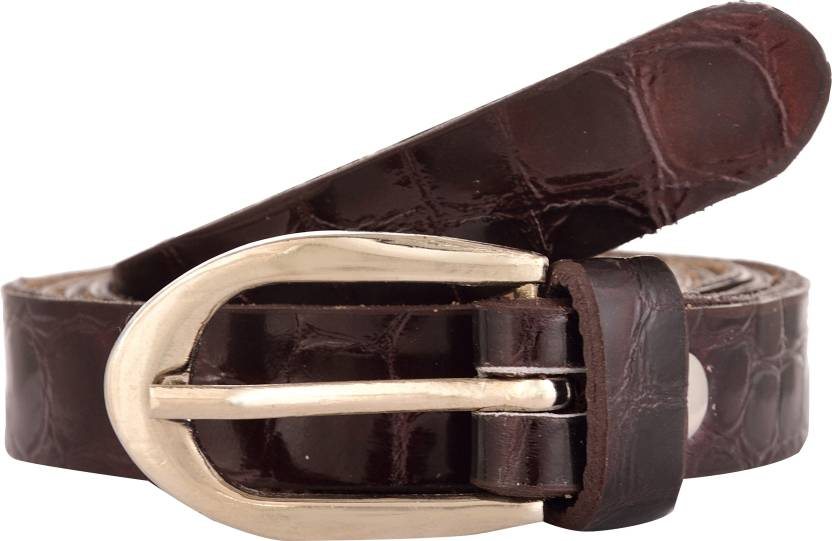 Exotique Women Casual Brown Genuine Leather Belt
