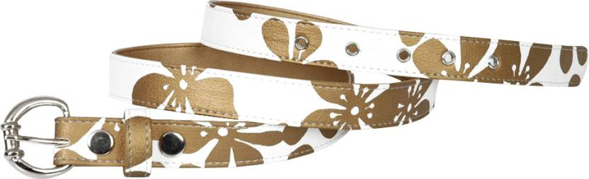 Baggit Women Casual White Artificial Leather Belt