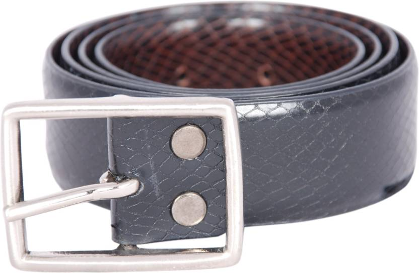 Belmonte Men Formal Black, Brown Genuine Leather Reversible Belt