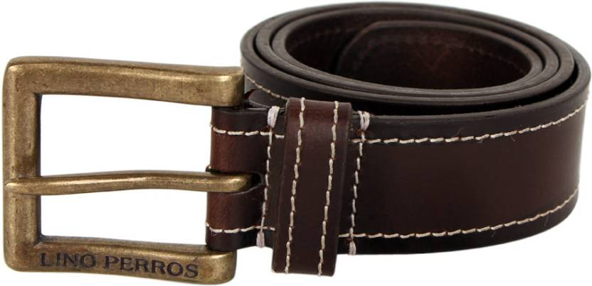 Lino Perros Single Side - Solid - Stitch 85 mm Casual Belt - For Men