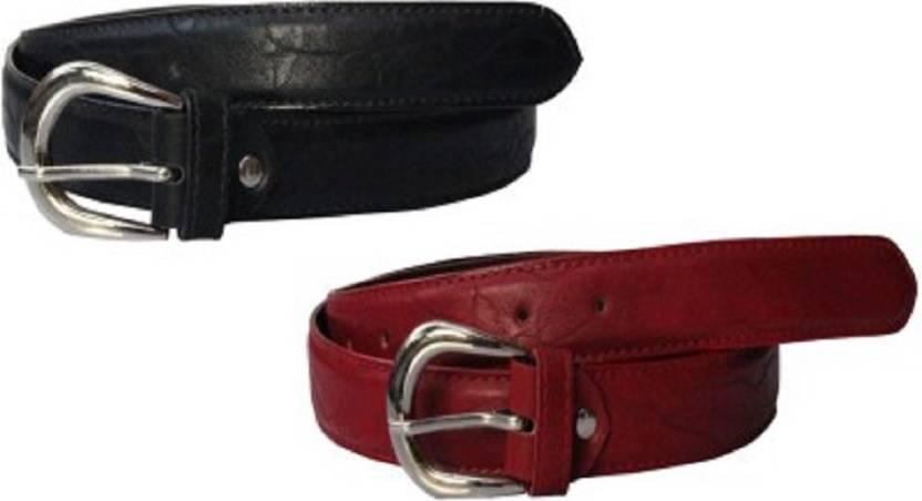 Nagar Enterprises Girls Casual Black, Pink Artificial Leather Belt
