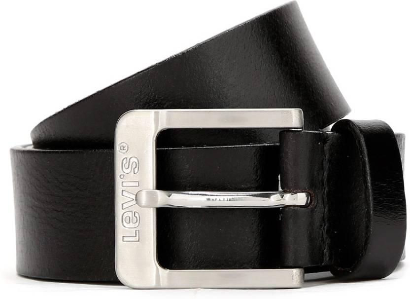 Levi's Men Black Genuine Leather Belt