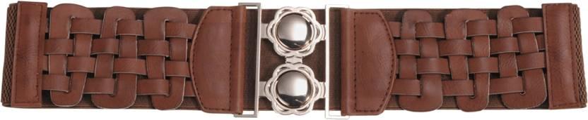 Mod'acc Women Casual Maroon Synthetic Belt