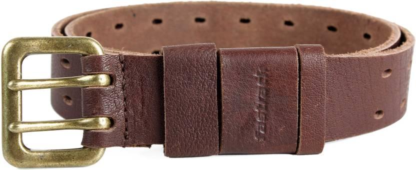 Fastrack Men Casual Brown Genuine Leather Belt