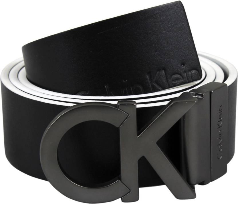 d9429af8bd2 Calvin Klein Men Casual Black Genuine Leather Belt Black - Price in India
