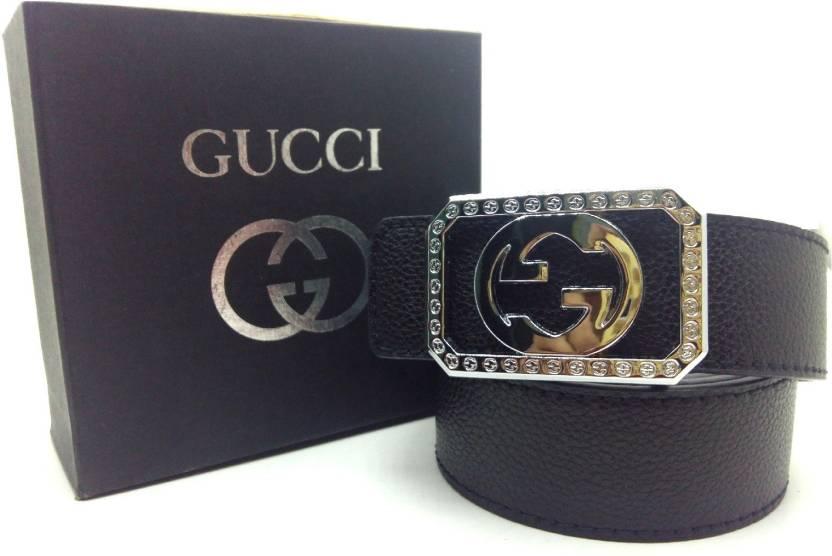 a50a35b2e24 gocci Men Black Artificial Leather Belt black - Price in India ...
