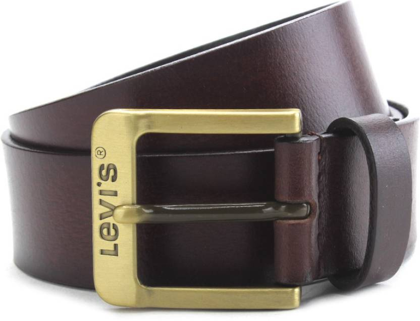 Levi's Men Brown Genuine Leather Belt