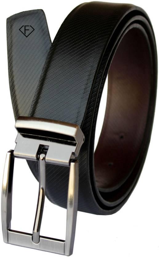 Fashius Men Black Artificial Leather Belt