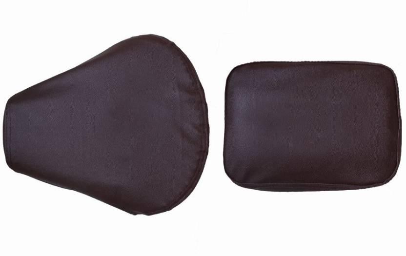 Superb Almos Ds Dark Brown Split Bike Seat Cover For Royal Enfield Evergreenethics Interior Chair Design Evergreenethicsorg